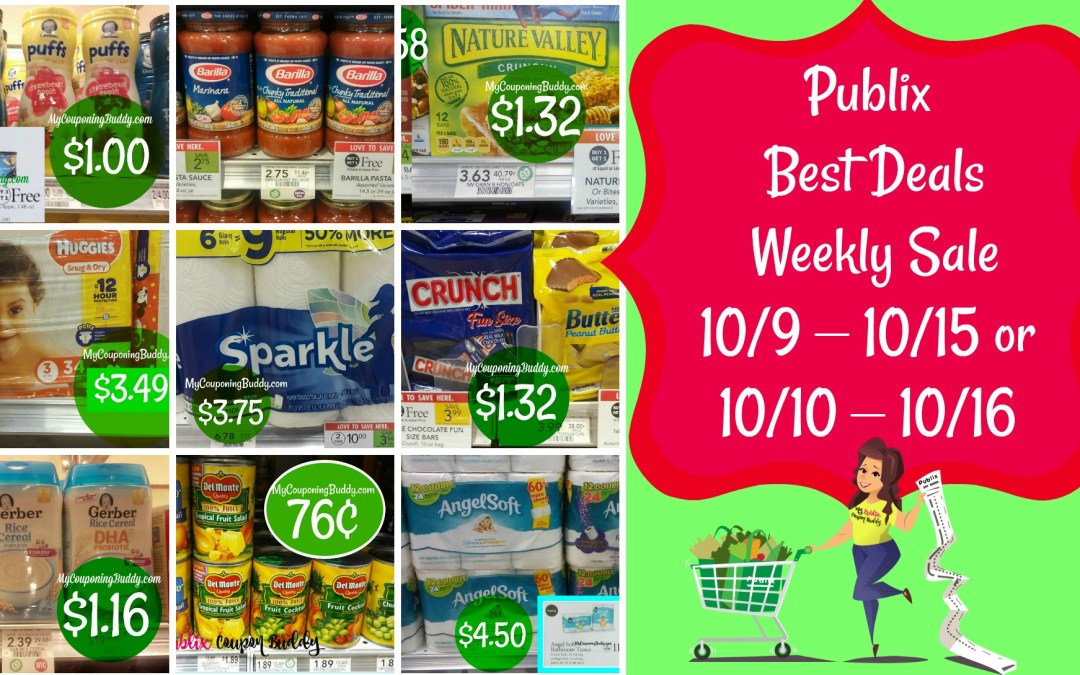 Publix Best Deals of the Weekly Sale 10/9 – 10/15 or 10/10 – 10/16