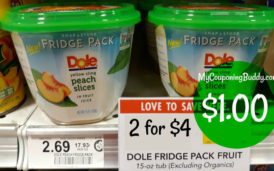 Dole Fridge Pack $1 at Publix