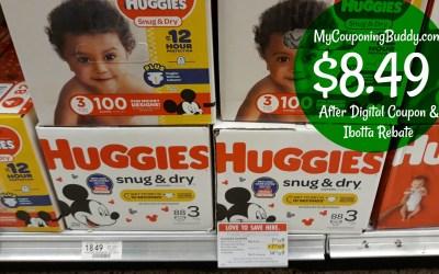 Huggies Snug & Dry Box $8.49 at Publix