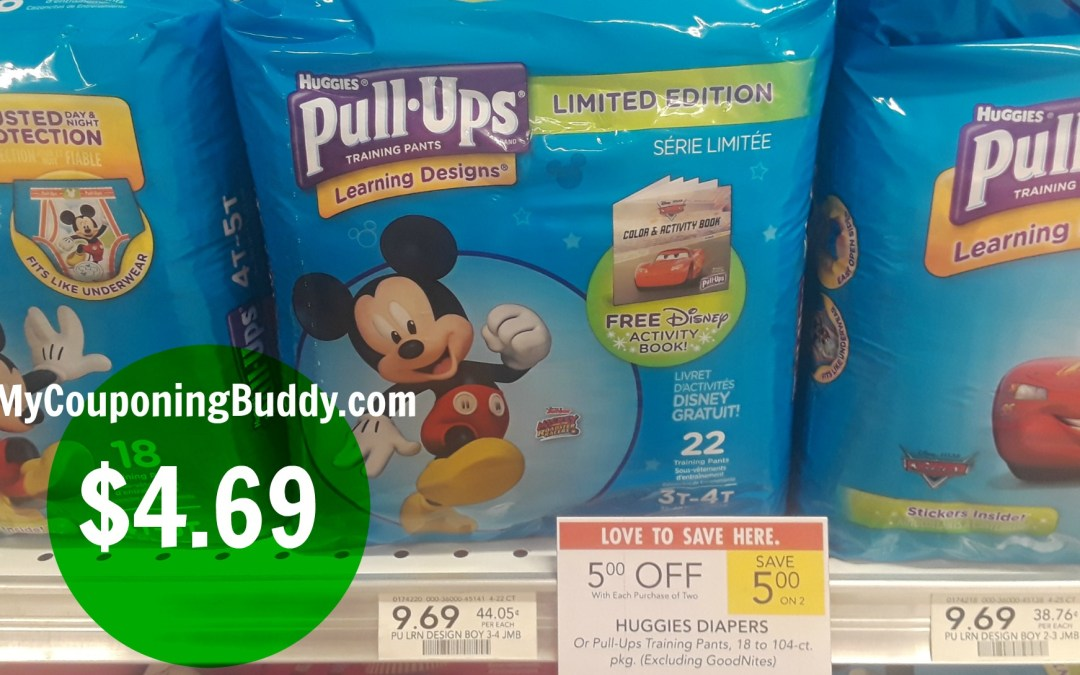 Huggies Pull Ups $4.69 at Publix
