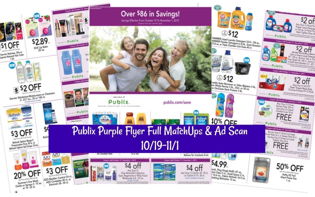 Publix Purple Flyer Full MatchUps & Ad Scan 10/19-11/1