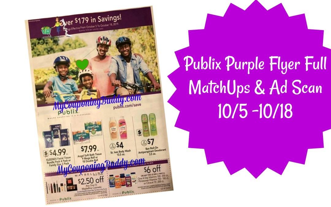 Publix Purple Flyer Full MatchUps & Ad Scan 10/5 -10/18