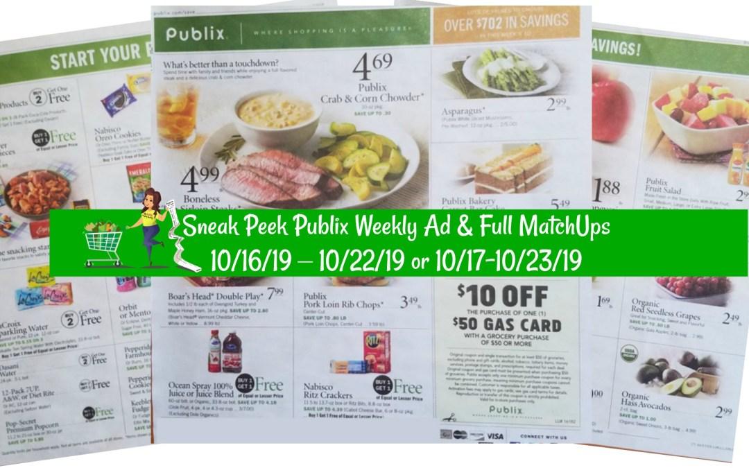 Sneak Peek Publix Weekly Ad & Full MatchUps 10/16/19 – 10/22/19 or 10/17-10/23/19