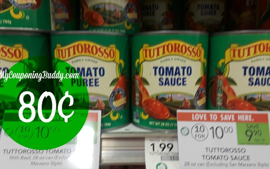 Tuttorosso Tomatoes 80¢ at Publix