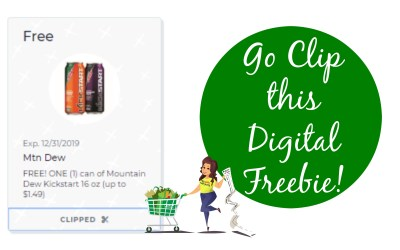 FREE Mt. Dew Kick Start at Publix with New Digital Coupon