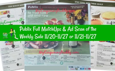 Full MatchUps & Ad Scan Publix Weekly Sale 11/20-11/27 or 11/21-11/27