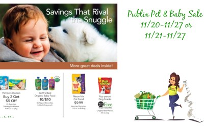Publix Pet & Baby Sale Publix Weekly Sale 11/20-11/27 or 11/21-11/27