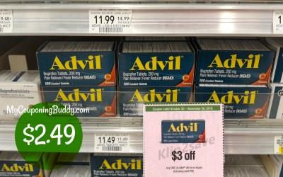 100 ct Advil $2.49 at Publix