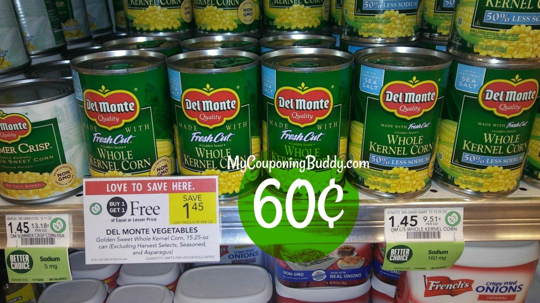 Del Monte Canned Vegetables Publix BOGO