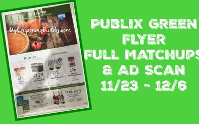 Publix Green Grocery Flyer Full MatchUps & Ad Scan 11/23 – 12/6