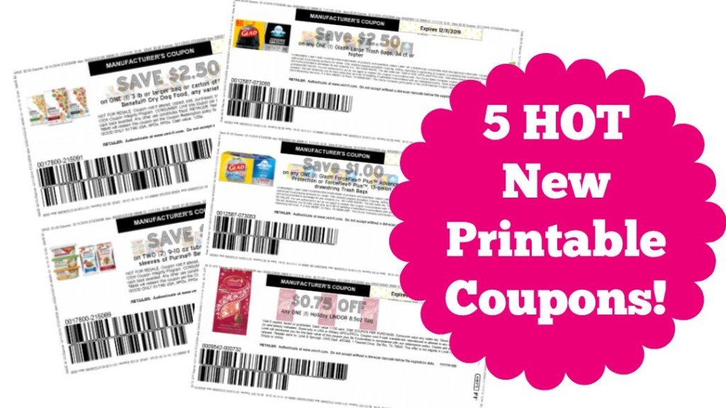New Printable Coupons For Glad Lindor And Beneful Dog Food My Publix Coupon Buddy
