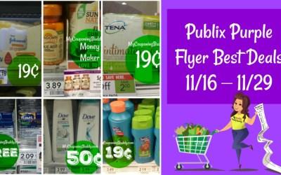 Publix Purple Flyer Best Deals 11/16 – 11/29