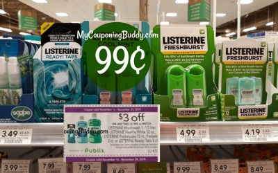 Listerine Ready! Tabs 99¢ at Publix