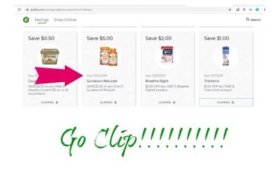 Go Clip tons of New Publix Digital Coupons!