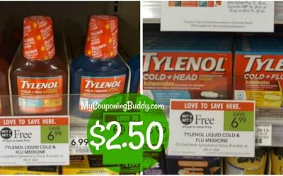 Tylenol Cold Publix $2.50 at Publix ( plus 2 rebates!)