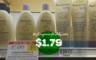 Aveeno Baby Products as low as $1.79 at Publix