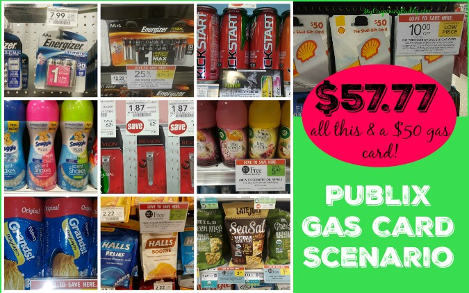 Publix Gas Card Deal Scenario $57.77 (includes the cost of $50 gas card)