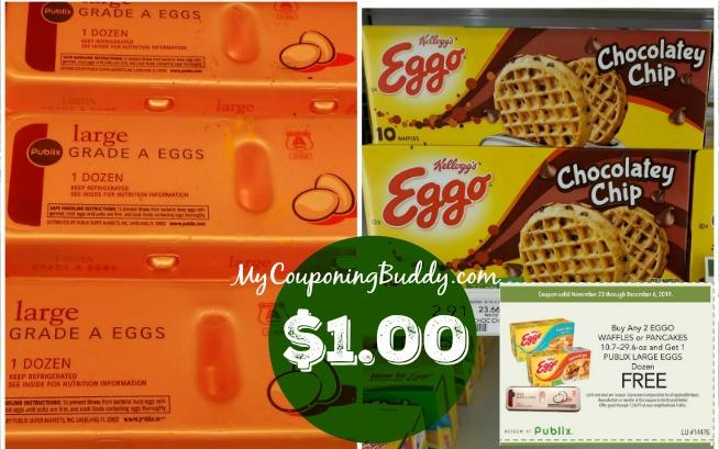 Publix Eggs and Eggo Waffles Deal ~ $1.00 ea.
