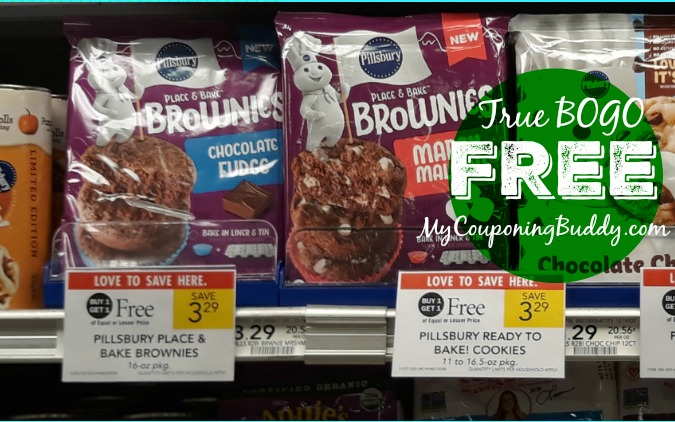 Pillsbury Place & Bake Brownie FREE at Publix