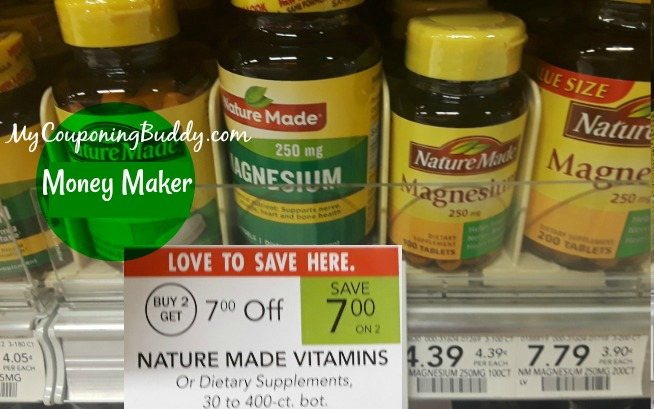 Nature Made Vitamins free at Publix Weekly Sale 1/1-1/7 or 1/2-1/8