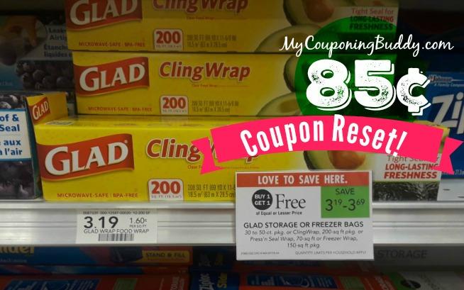 Coupon Reset Glad Cling Wrap 85 At Publix My Publix