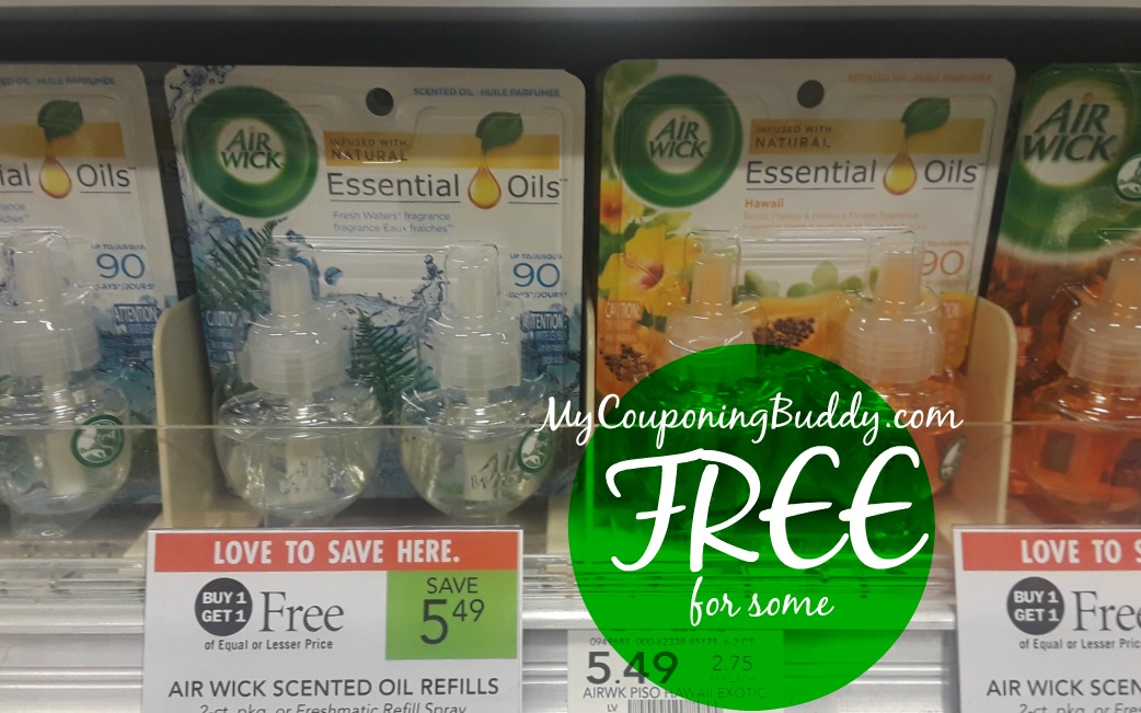 Airwick Twin Refills free for some at Publix