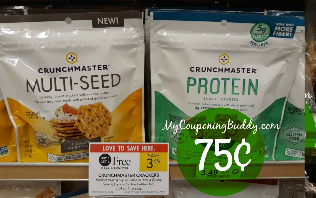 75CrunchMaster Crackers 75¢ at Publix