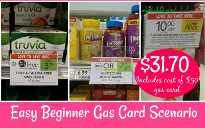 Easy Beginner Publix Gas Card Scenario: Pay $31.70 for $50 Gas Card!
