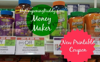 NEW PRINTABLE COUPON ~ Flintstones Vitamins Money Maker at Publix
