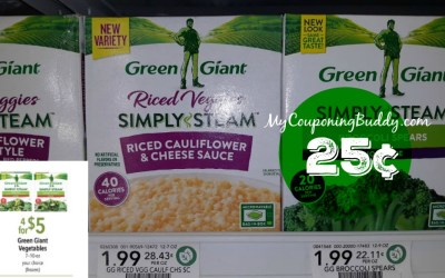 Green Giant Riced Veggies 25¢ at Publix