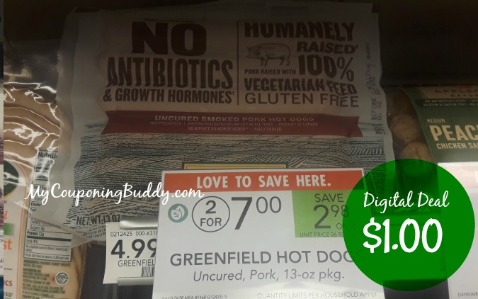Greenfield Hot Dogs $1 at Publix