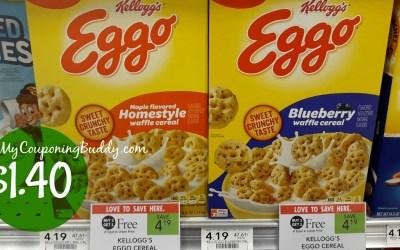 Kellogg's Eggo Cereal $1.40 a box at Publix