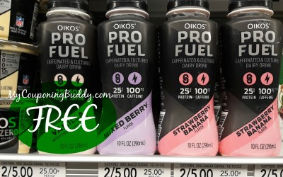 FREE Oikos Pro Fuel Caffeinated & Cultured Dairy Drink at Publix