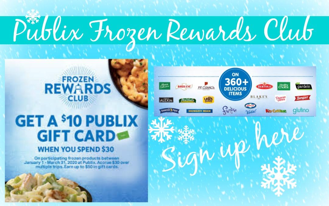Publix Frozen Rewards Club: $10 Publix Gift Card WYB $30