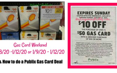 Publix Gas Card Weekend 1/8/20 – 1/12/20 or 1/9/20 – 1/12/20