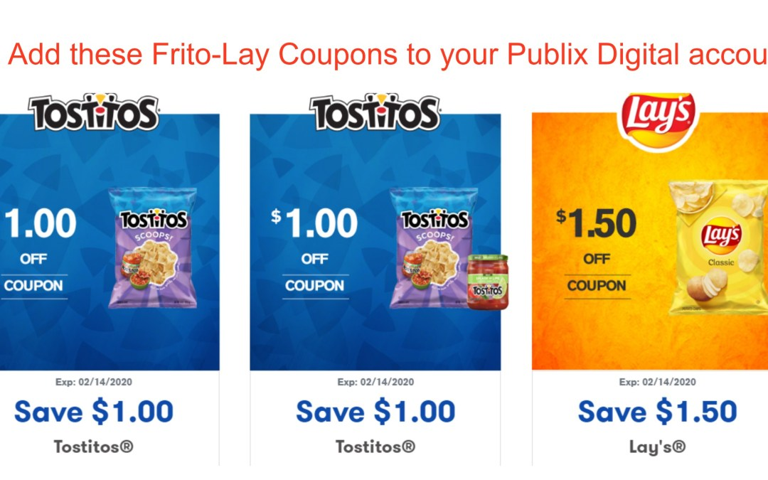 New Frito- Lay Digital Coupons (or by mail)