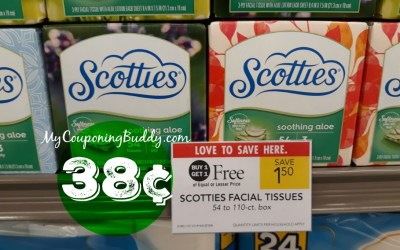 Scotties Facial Tissues 38¢ at Publix