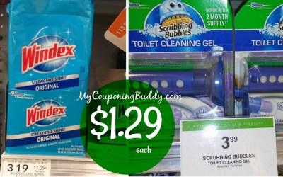 Windex Wipes & Scrubbing Bubbles Gel $1.29 at Publix