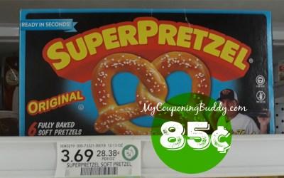 Super Pretzel 85¢ at Publix