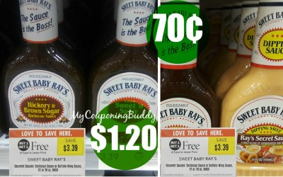 Sweet Baby Rays Sauces as low as 70¢ at Publix