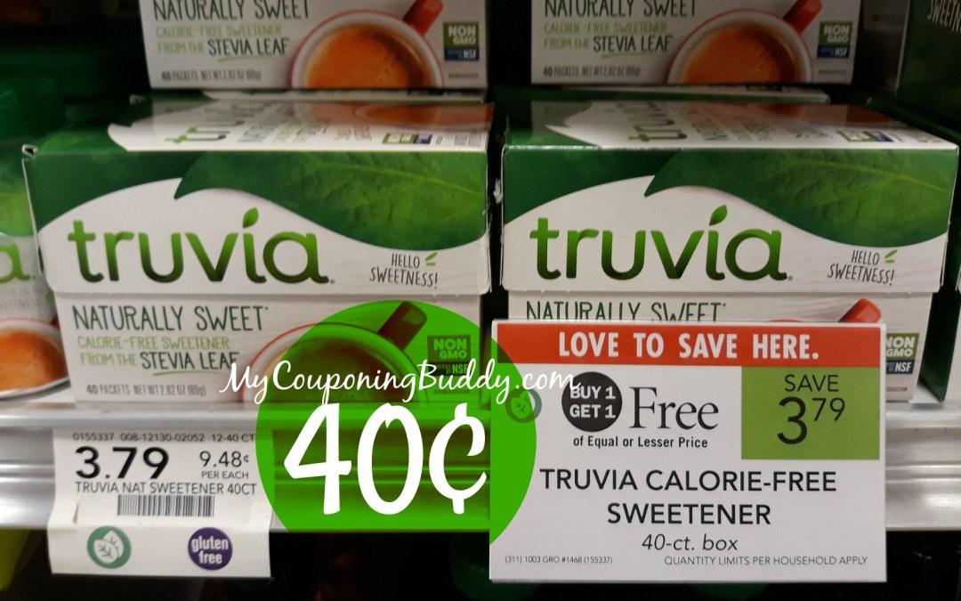 Truvia Sweetener 40¢ at Publix