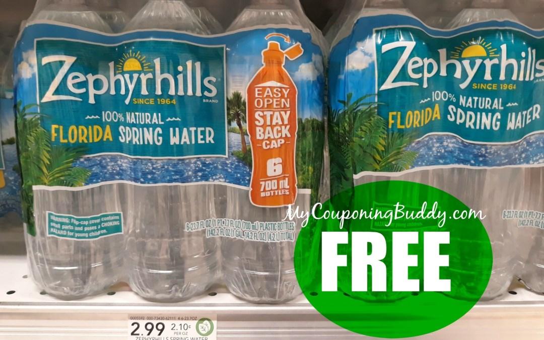Zephyrills Water FREE at Publix