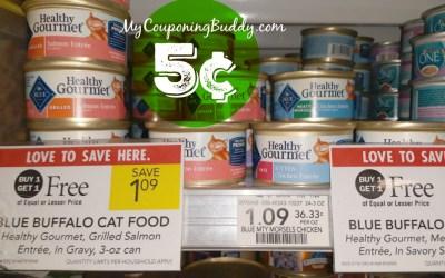 Healthy Gourmet Blue Wet Cat Food 5¢ at Publix