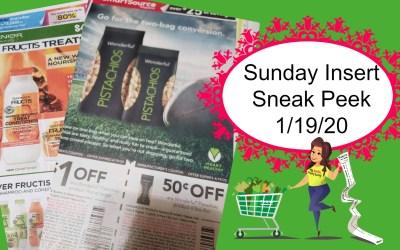 Sunday Coupon Insert Sneak Peek 1/19/20