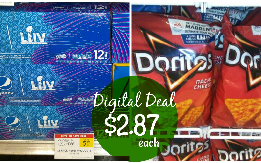 Pepsi Dorito Digital Coupon Deal Idea at Publix