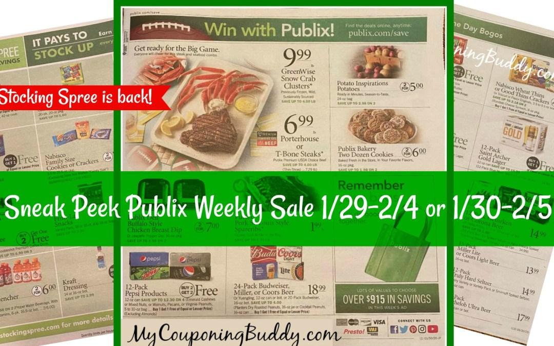 Sneak Peek Publix Weekly Sale 1/29-2/4 or 1/30-2/5