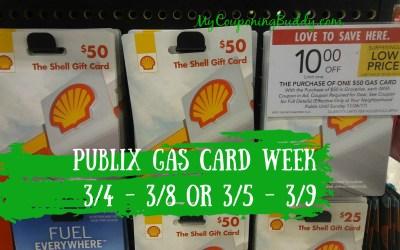 Publix Gas Card Week 3/4 – 3/8 or 3/5 – 3/9