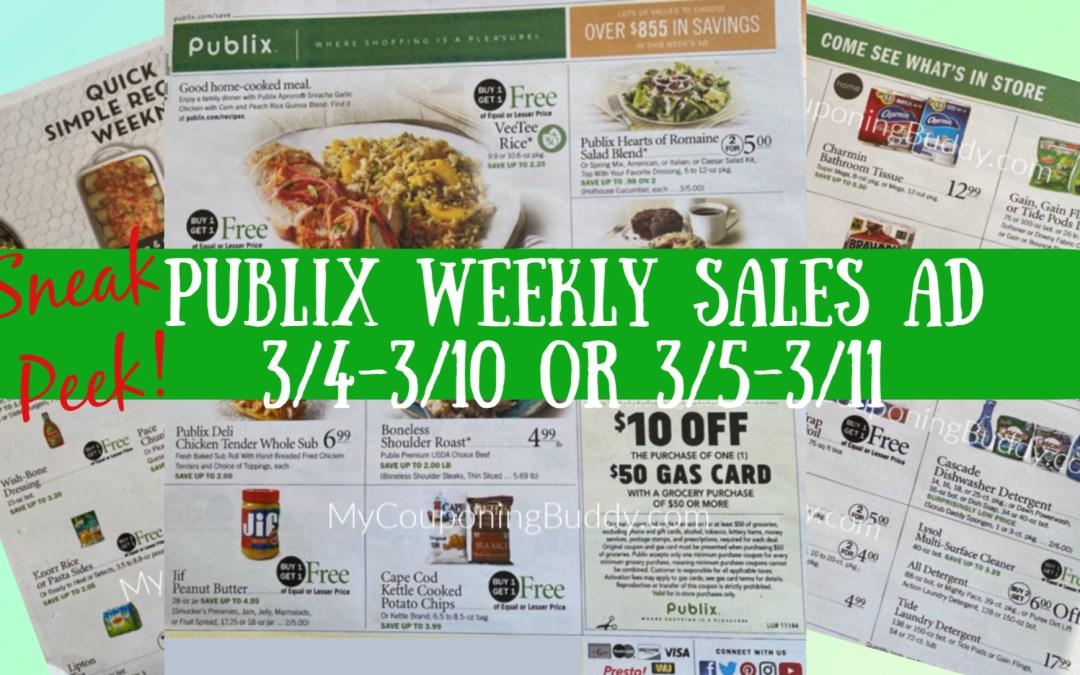 Sneak Peek Publix Weekly Sale3/4-3/10 or 3/5-3/11