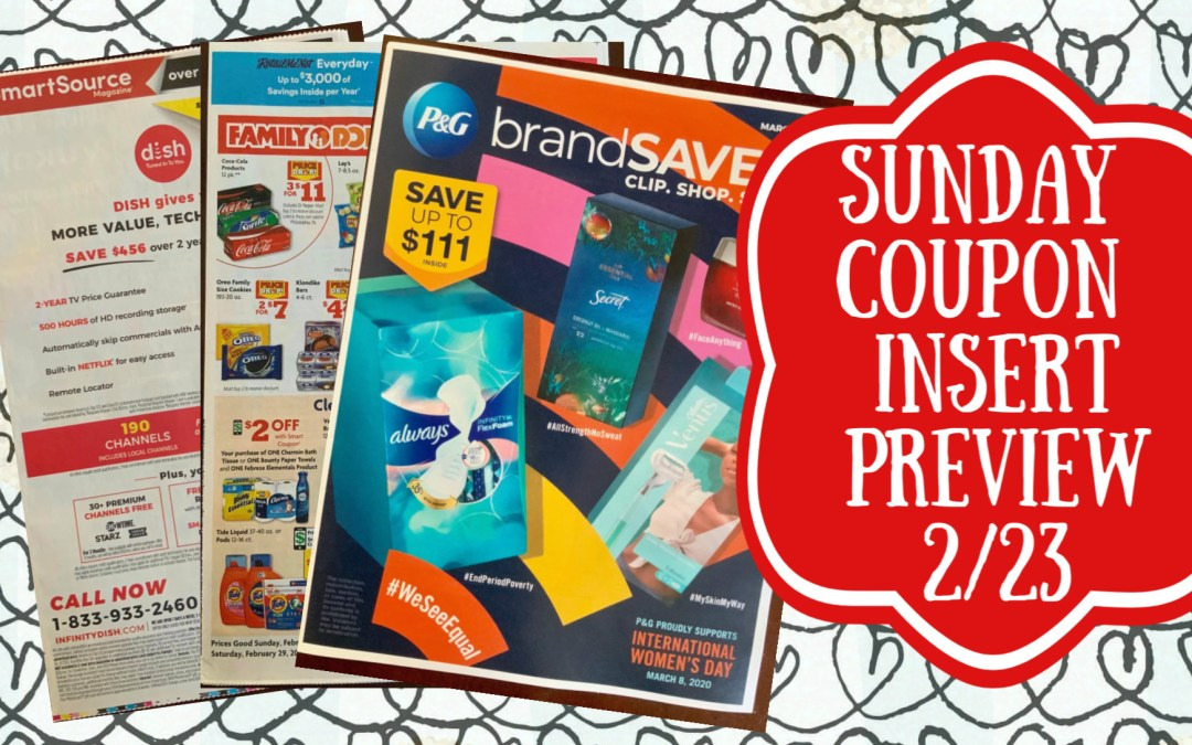Sunday Coupon Insert Sneak Peek 2/23/20