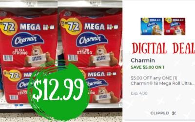 Charmin® 18 Mega Roll $12.99